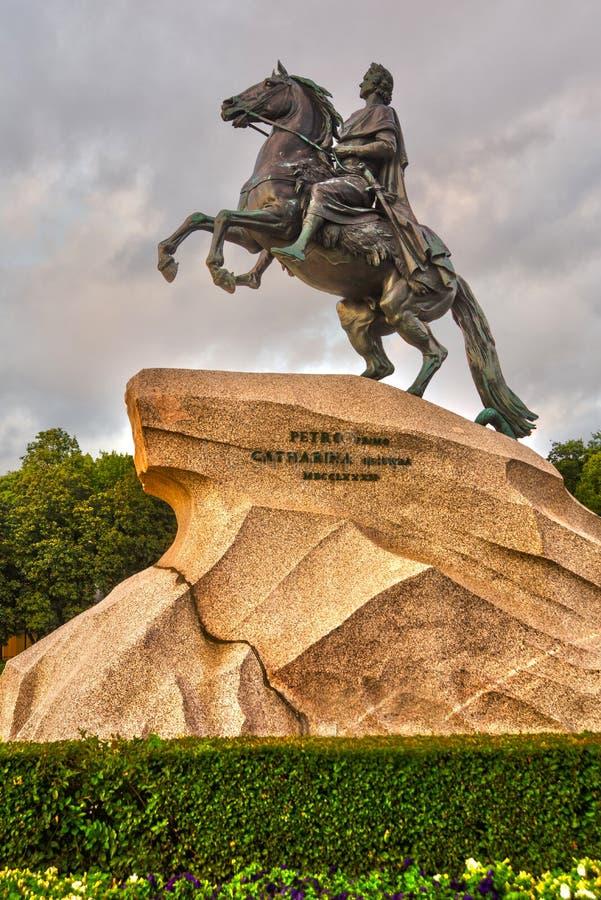 Ο ιππέας χαλκού, κυριολεκτικά στα ρωσικά Άγιος στοκ φωτογραφίες με δικαίωμα ελεύθερης χρήσης