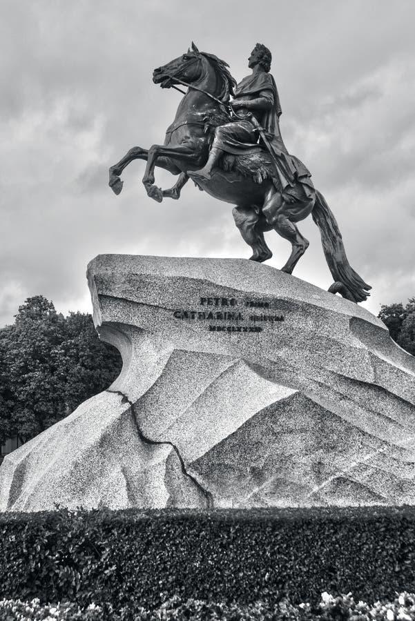 Ο ιππέας χαλκού, κυριολεκτικά στα ρωσικά Άγιος στοκ εικόνα με δικαίωμα ελεύθερης χρήσης