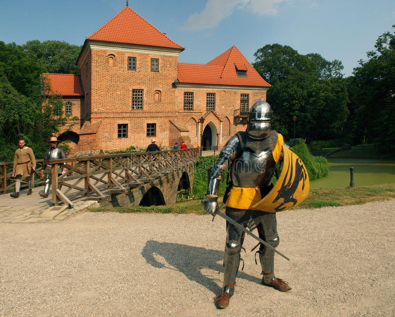 Ο ιππότης από το κάστρο Oporà ³ W στοκ φωτογραφίες