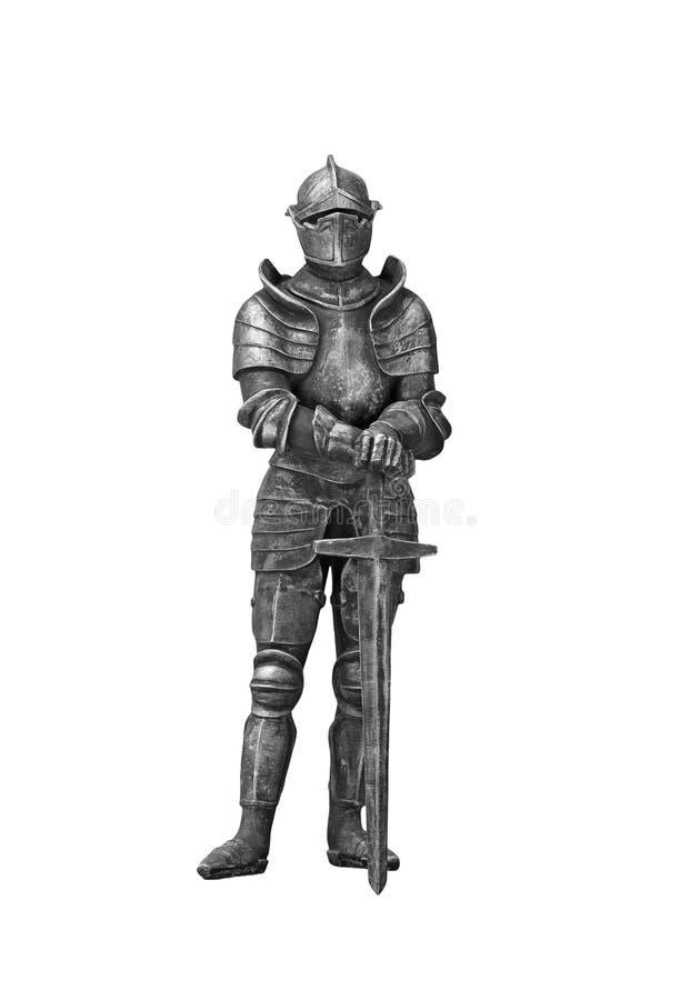 Ο ιππότης στο τεθωρακισμένο με το ξίφος στοκ εικόνες με δικαίωμα ελεύθερης χρήσης