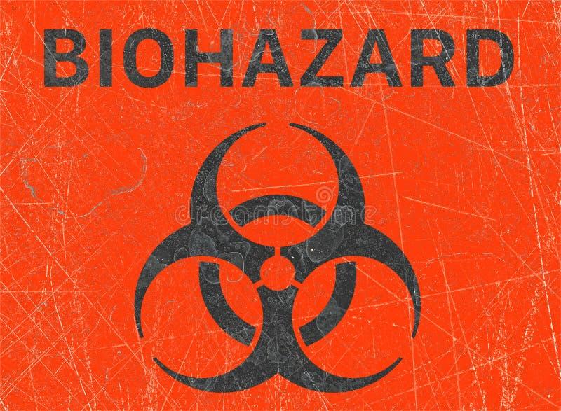 Ο ιός, biohazards, αναφέρεται στις βιολογικές ουσίες που αποτελούν απειλή για την υγεία των οργανισμών διαβίωσης, ιοί διανυσματική απεικόνιση