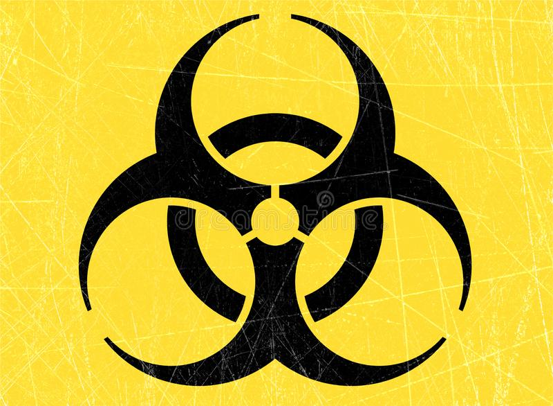 Ο ιός, biohazards, αναφέρεται στις βιολογικές ουσίες που αποτελούν απειλή για την υγεία των οργανισμών διαβίωσης, ιοί απεικόνιση αποθεμάτων