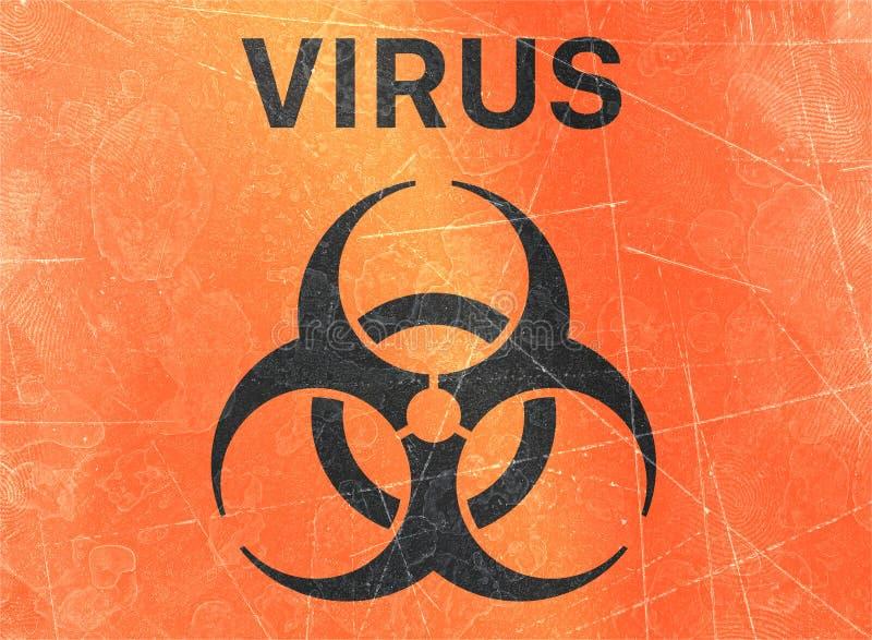 Ο ιός, biohazards, αναφέρεται στις βιολογικές ουσίες που αποτελούν απειλή για την υγεία των οργανισμών διαβίωσης, ιοί ελεύθερη απεικόνιση δικαιώματος