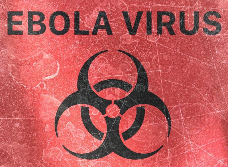 Ο ιός Ebola, biohazards, αναφέρεται στις βιολογικές ουσίες που αποτελούν απειλή για την υγεία των οργανισμών διαβίωσης, ιοί απεικόνιση αποθεμάτων