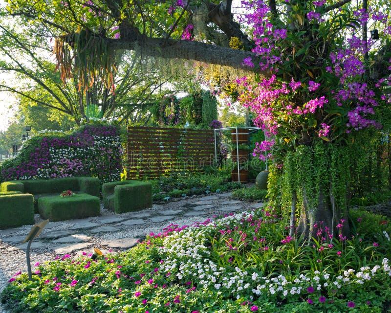 Ο κάθετος κήπος που συνδυάζει τη φυσική ομορφιά του πάρκου στοκ εικόνα