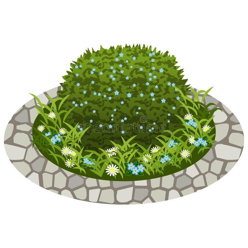 Ο κήπος ανθίζει το προτέρημα Οι Μπους και λουλούδια απεικόνιση αποθεμάτων