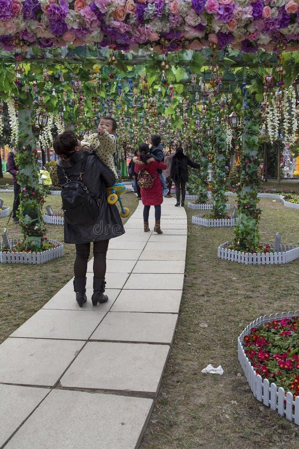 Ο κήπος στο φεστιβάλ ήλιων, chengdu, Κίνα στοκ εικόνα με δικαίωμα ελεύθερης χρήσης