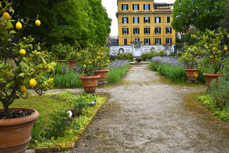 Ο κήπος στο Galleria Borghese Ρώμη Ιταλία στοκ εικόνες με δικαίωμα ελεύθερης χρήσης