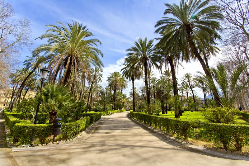 Ο κήπος της βίλας Bonanno στο Παλέρμο, Σικελία στοκ φωτογραφίες