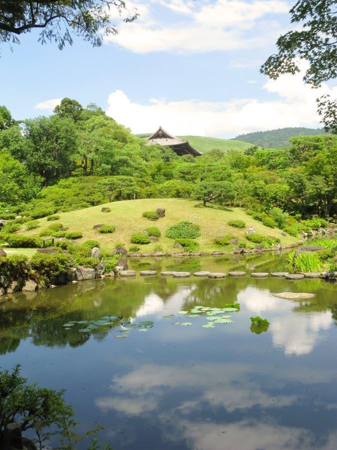ο κήπος το Νάρα zen στοκ εικόνα