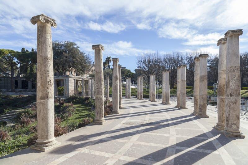 Ο κήπος, Jardins Joan Maragall και το παλάτι Albeniz, σταθμεύουν montjuic, ομο στοκ εικόνες