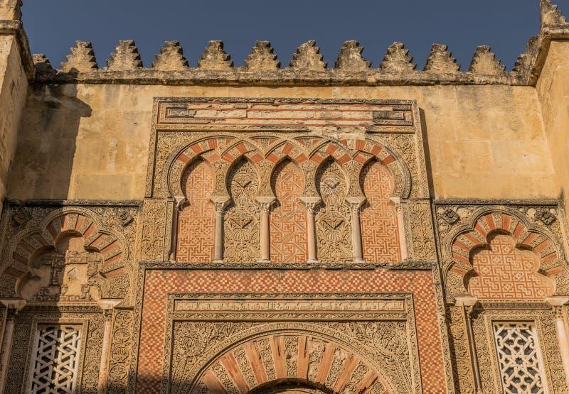 Ο καθεδρικός ναός μουσουλμανικών τεμενών στην Κόρδοβα, Ισπανία στοκ εικόνες