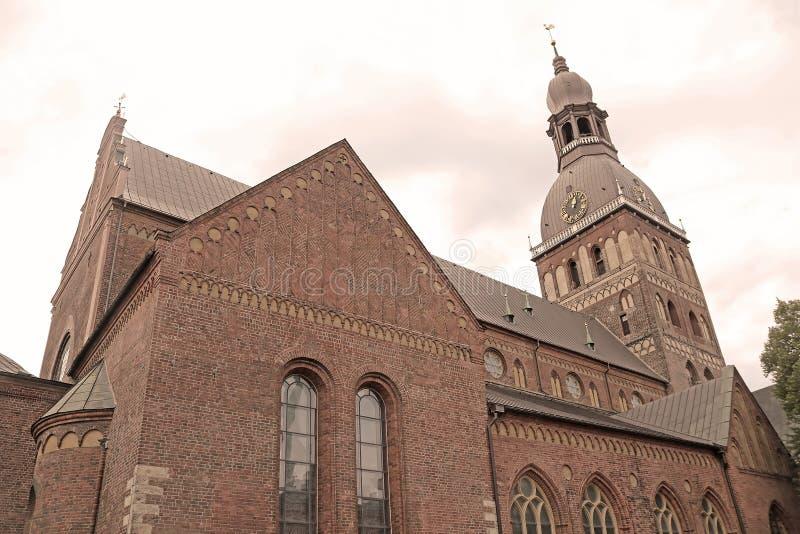Ο καθεδρικός ναός της Ρήγας είναι ο εβαγγελικός λουθηρανικός καθεδρικός ναός στη Ρήγα, Λετονία στοκ εικόνες