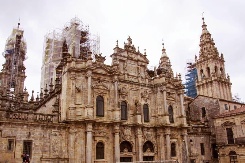 Ο καθεδρικός ναός του Σαντιάγο de compostela στοκ εικόνες