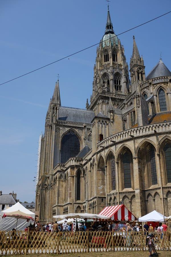 Ο καθεδρικός ναός του Bayeux στοκ φωτογραφία