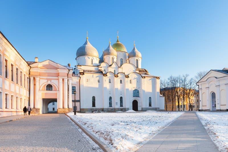 Ο καθεδρικός ναός του ST Sophia στο Novgorod Κρεμλίνο, Veliky Novg στοκ φωτογραφία