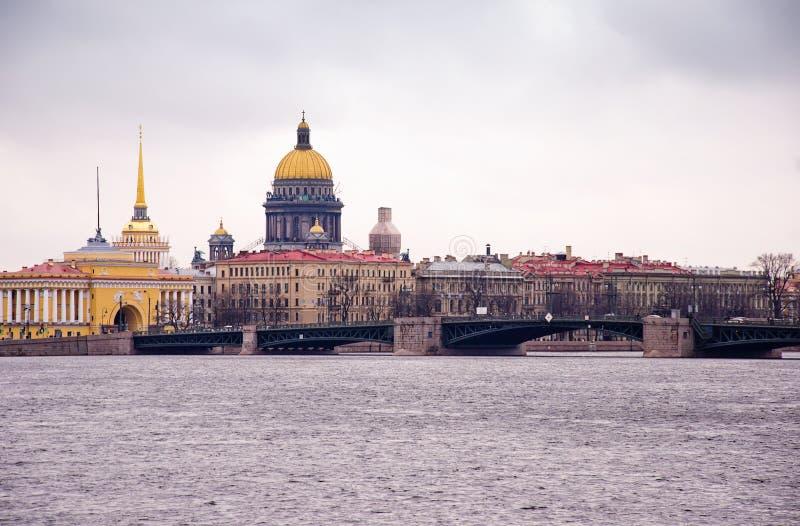 Ο καθεδρικός ναός Αγίου Isaac, Αγία Πετρούπολη, Ρωσία στοκ εικόνα με δικαίωμα ελεύθερης χρήσης