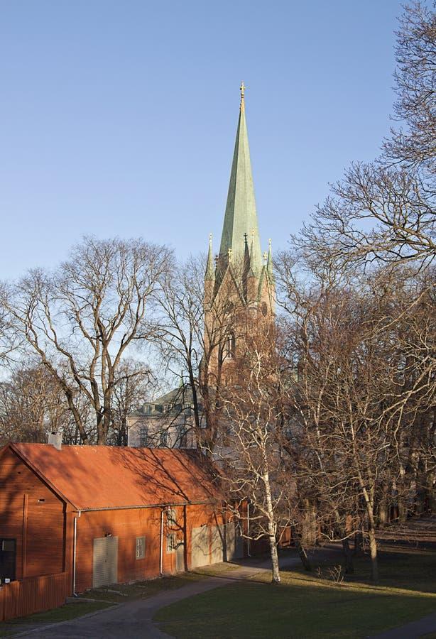 Ο καθεδρικός ναός Linköping στοκ εικόνες