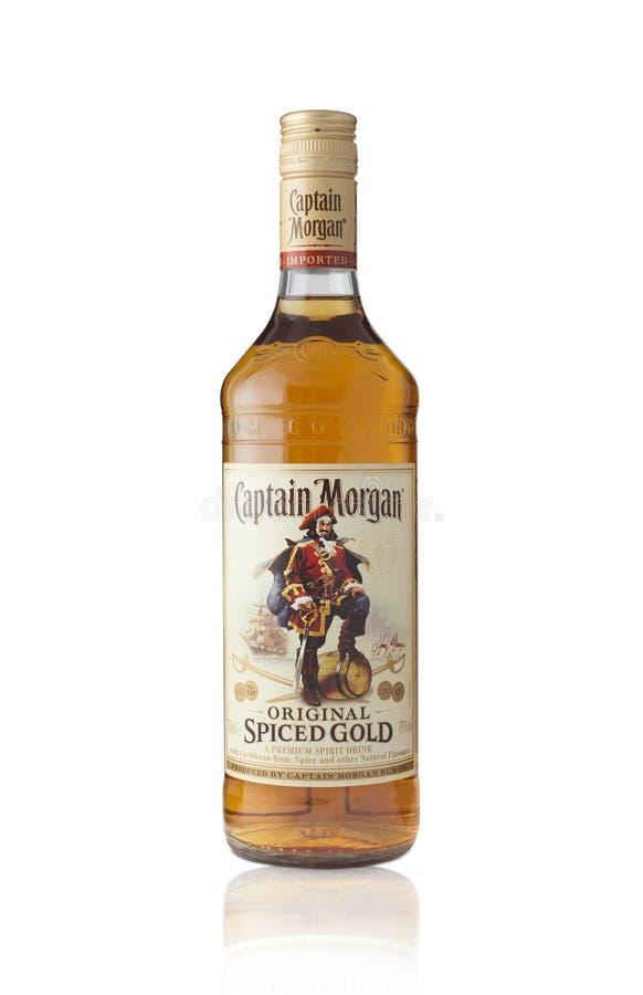 Ο καπετάνιος Morgan είναι ένα εμπορικό σήμα του ρουμιού στοκ φωτογραφίες με δικαίωμα ελεύθερης χρήσης