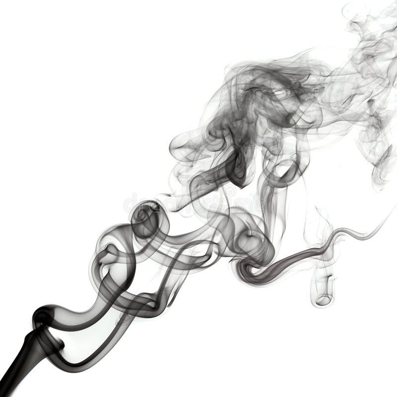 Ο καπνός απομόνωσε το σκοτάδι στοκ φωτογραφία