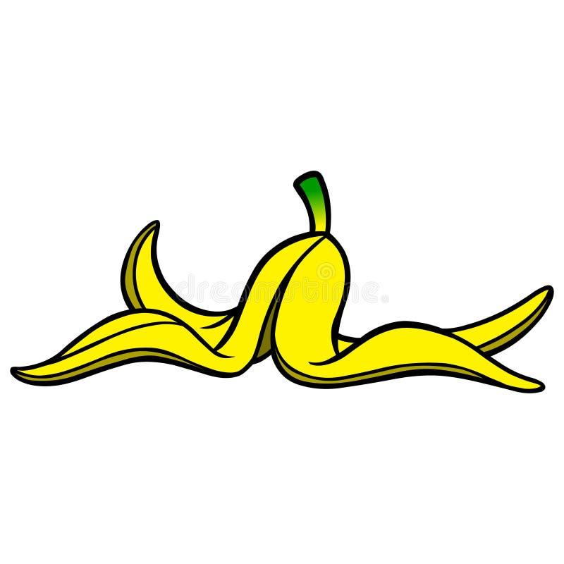 ο καρπός μπανανών ανασκόπησης απομόνωσε άσπρο κίτρινο φλούδας απεικόνιση αποθεμάτων
