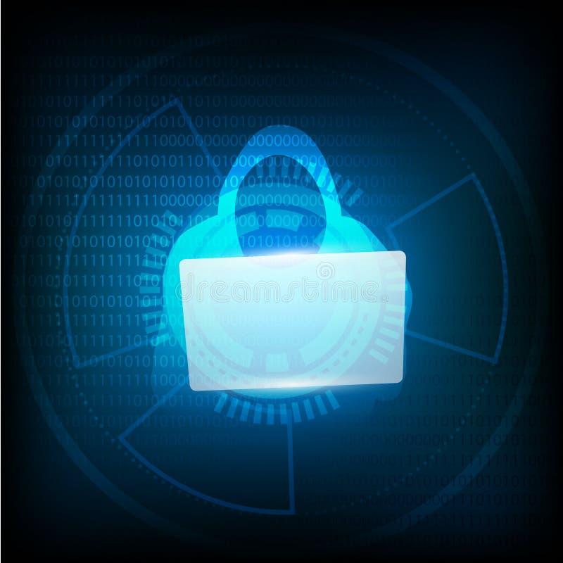 Ο κατάσκοπος κλέβει τον κωδικό πρόσβασης από τον υπολογιστή στο μπλε υπόβαθρο ελεύθερη απεικόνιση δικαιώματος