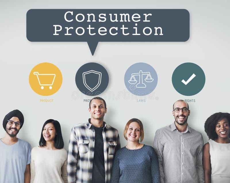 Ο καταναλωτής διορθώνει την έννοια κανονισμού προστασίας στοκ φωτογραφίες