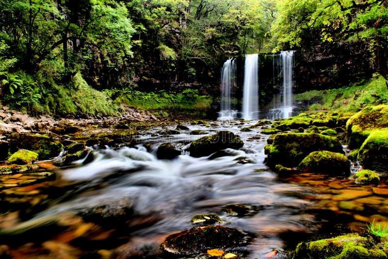 Ο καταρράκτης Brecon οδηγεί το εθνικό πάρκο, Ουαλία UK στοκ εικόνες