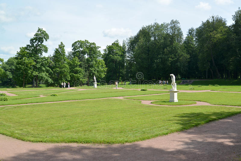 Ο κατώτατος ολλανδικός κήπος στη Γκάτσινα, Ρωσία στοκ φωτογραφία με δικαίωμα ελεύθερης χρήσης
