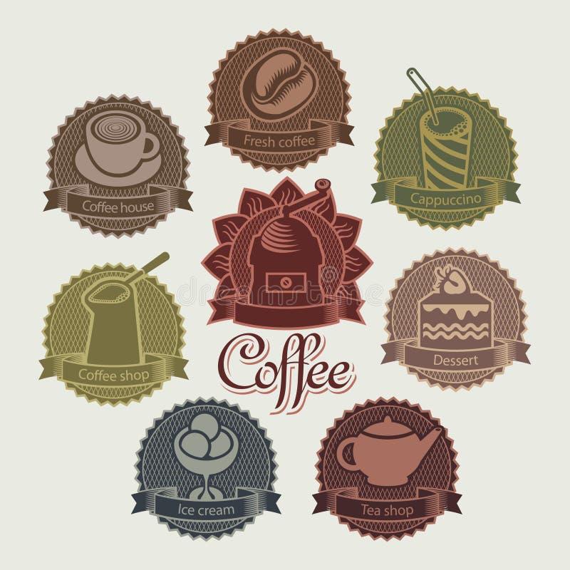 ο καφές απομόνωσε το καθορισμένο λευκό απεικόνιση αποθεμάτων