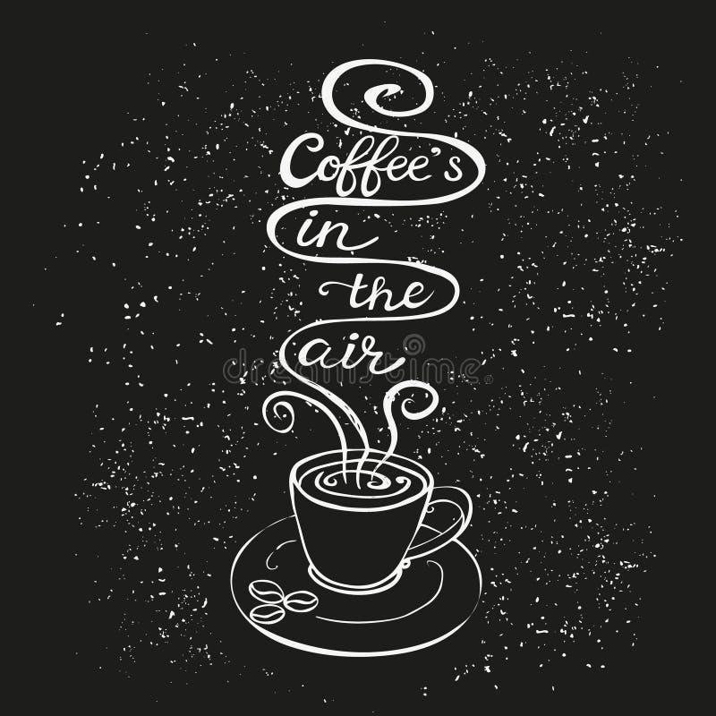 Ο καφές είναι στην αφίσα αέρα ελεύθερη απεικόνιση δικαιώματος