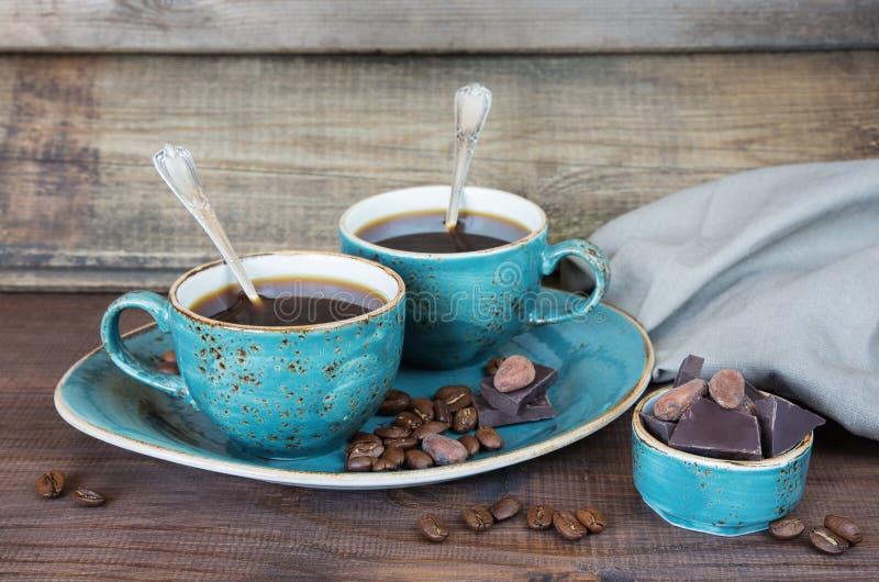 ο καφές κοιλαίνει δύο στοκ φωτογραφία με δικαίωμα ελεύθερης χρήσης