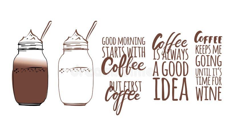 Ο καφές με κρατά απεικόνιση αποθεμάτων