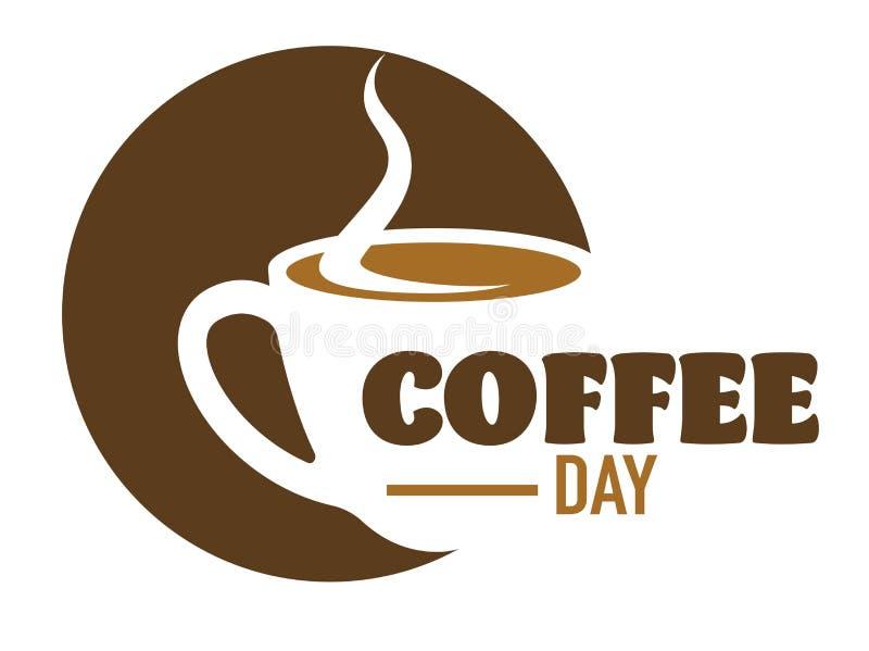Ο καφές πίνει τον καφέ ή απομονωμένο το καφετέρια ενεργητικό ποτό εικονιδίων διανυσματική απεικόνιση