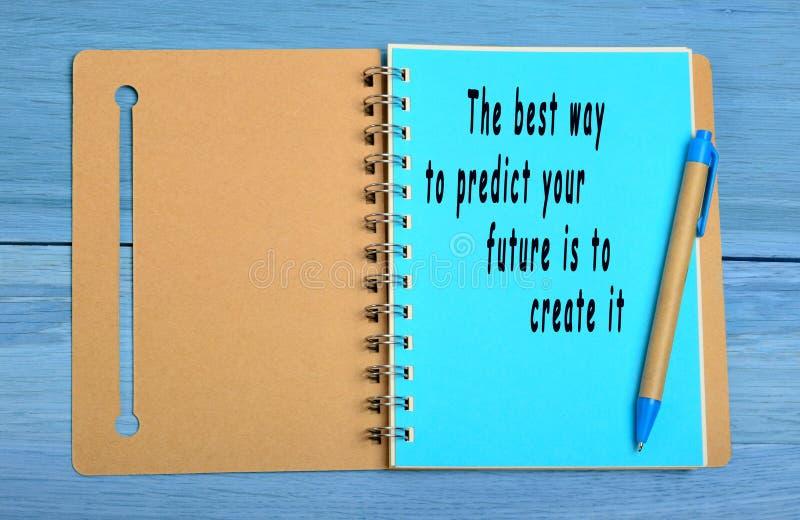 Ο καλύτερος τρόπος να προβλεφθεί το μέλλον σας είναι να δημιουργηθεί στοκ φωτογραφίες