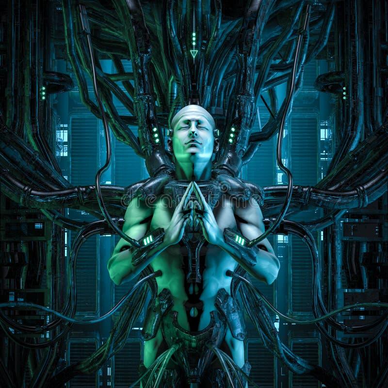 Ο κβαντικός zen βασιλιάς διανυσματική απεικόνιση