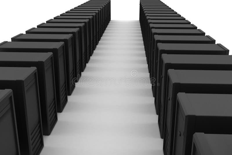 Ο κεντρικός υπολογιστής και τα στοιχεία εισάγονται διανυσματική απεικόνιση