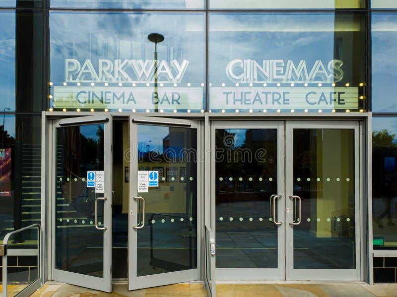 Ο κινηματογράφος χώρων στάθμευσης στο ανατολικό Γιορκσάιρ της Beverley στοκ φωτογραφία