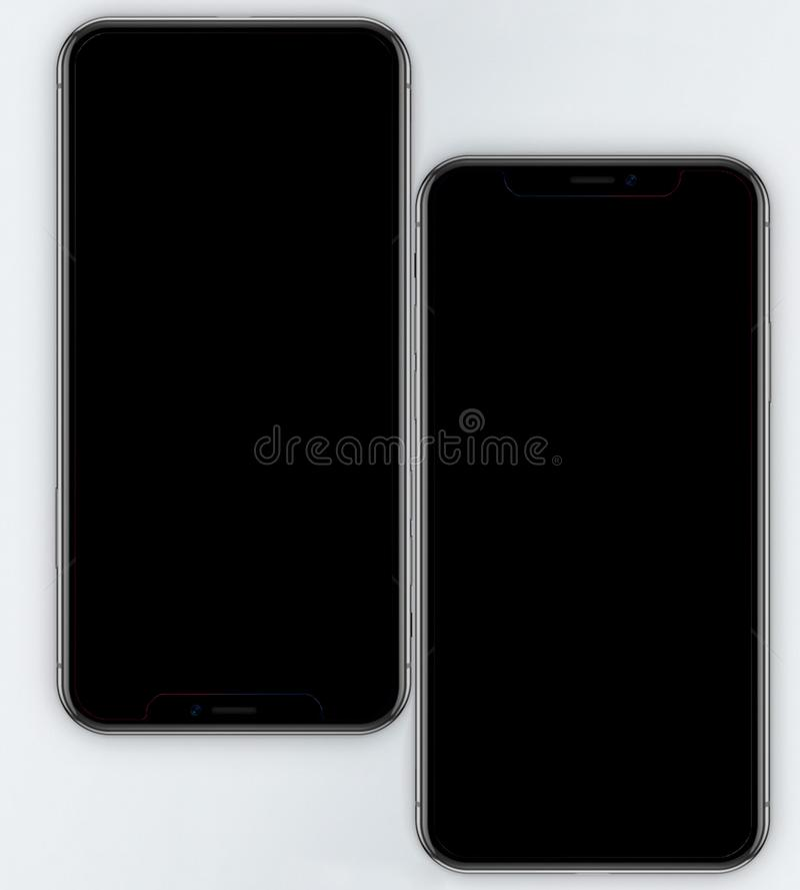 Ο κινητός του iPhone Χ στοκ εικόνα