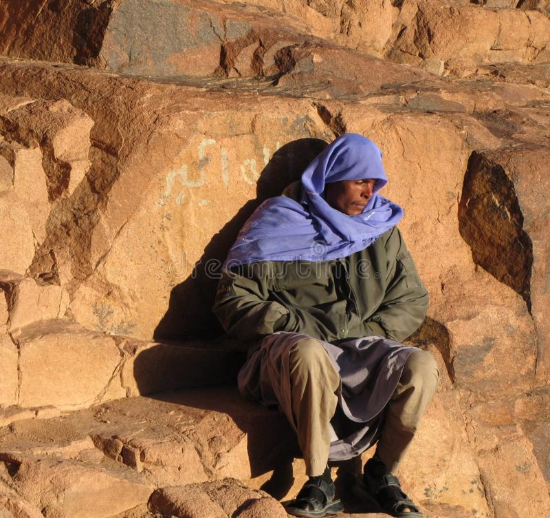 Ο κουρασμένος προσκυνητής, τοποθετεί Sinai στοκ εικόνες