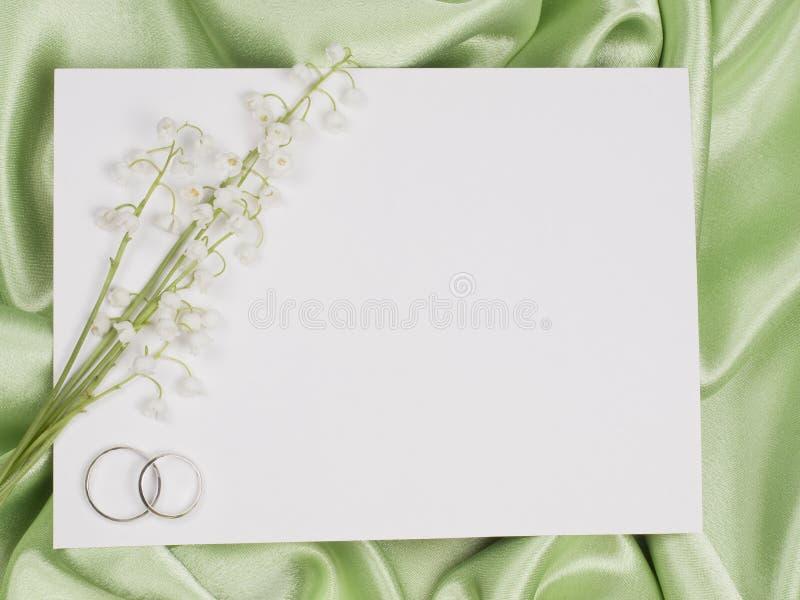ο κρίνος καρτών χτυπά το γάμ&om στοκ εικόνες