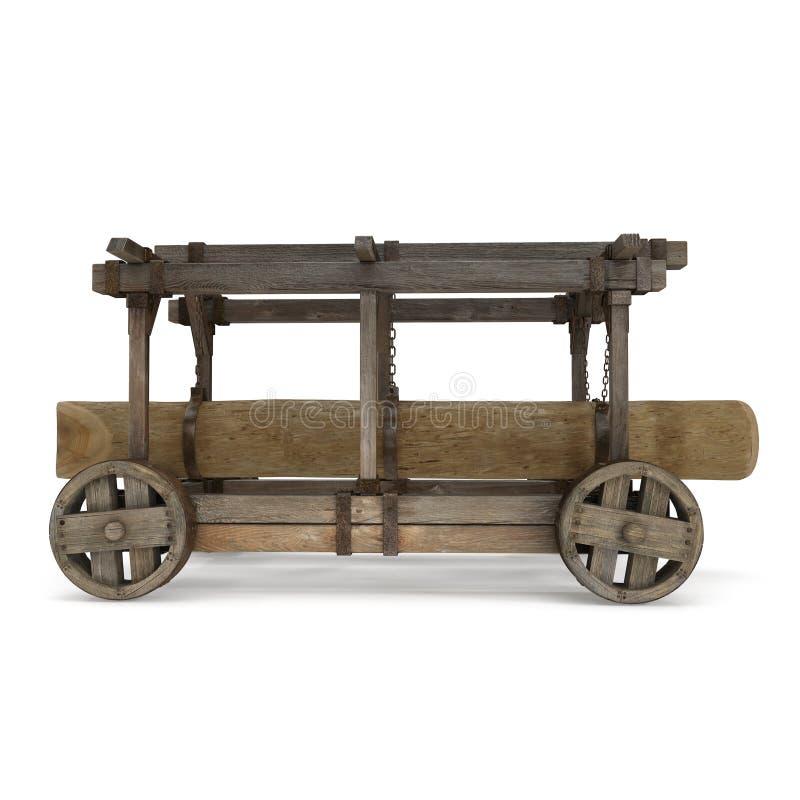 Ο κριός ξύλου απομόνωσε το τρισδιάστατο πρότυπο στην άσπρη απεικόνιση υποβάθρου στοκ εικόνα με δικαίωμα ελεύθερης χρήσης