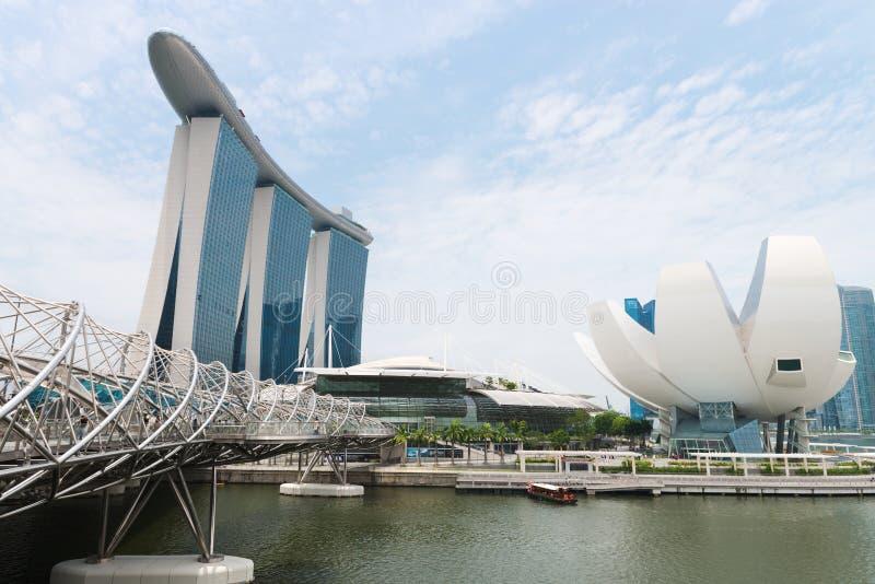 Ο κόλπος μαρινών στρώνει με άμμο τη Σιγκαπούρη στοκ εικόνες