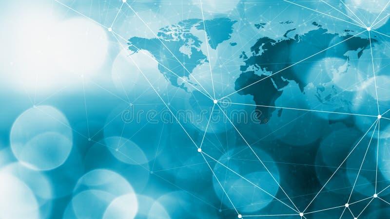 Ο κόσμος των συνδέσεων, των σημείων και των γραμμών τεχνολογίας σύνδεσε το δημιουργικό υπόβαθρο στοκ φωτογραφίες