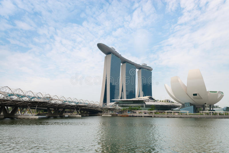 Ο κόλπος μαρινών στρώνει με άμμο τη Σιγκαπούρη στοκ φωτογραφία με δικαίωμα ελεύθερης χρήσης