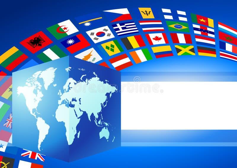 ο κύβος εμβλημάτων σημαι&omic ελεύθερη απεικόνιση δικαιώματος