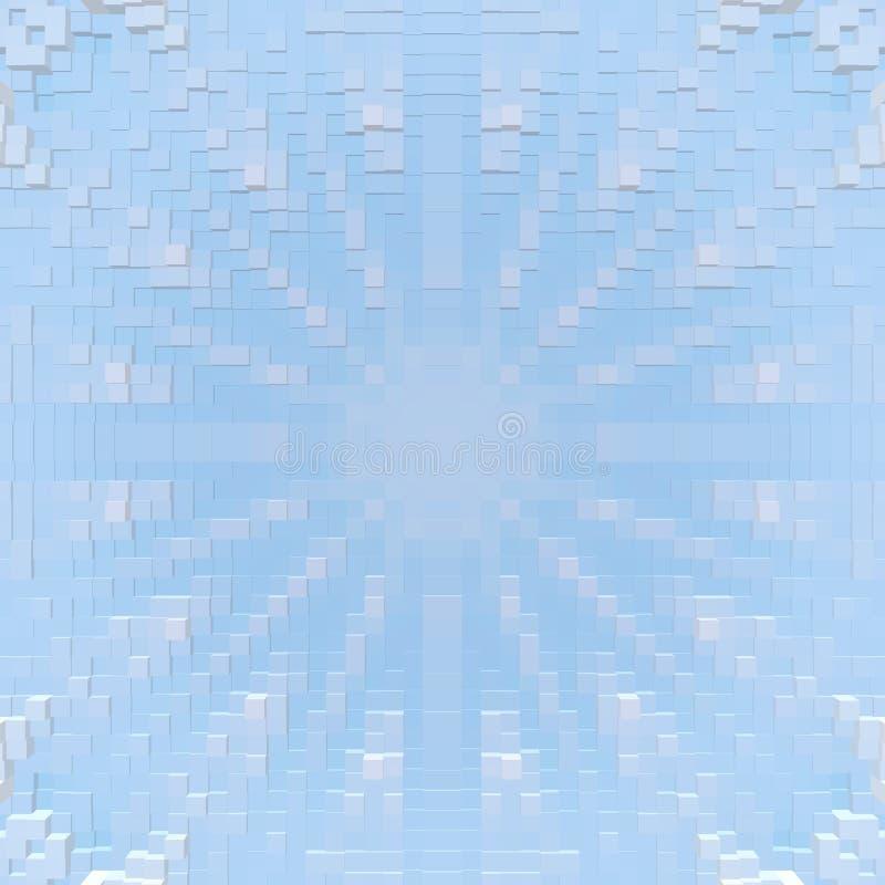 Ο κύβος τρισδιάστατος εξωθεί το υπόβαθρο συμμετρίας, γεωμετρικός γραφικός διανυσματική απεικόνιση