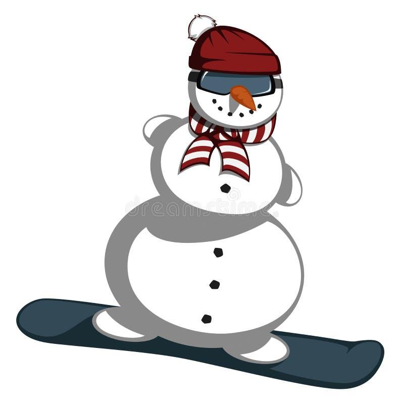 Ο κ. χιονάνθρωπος διανυσματική απεικόνιση
