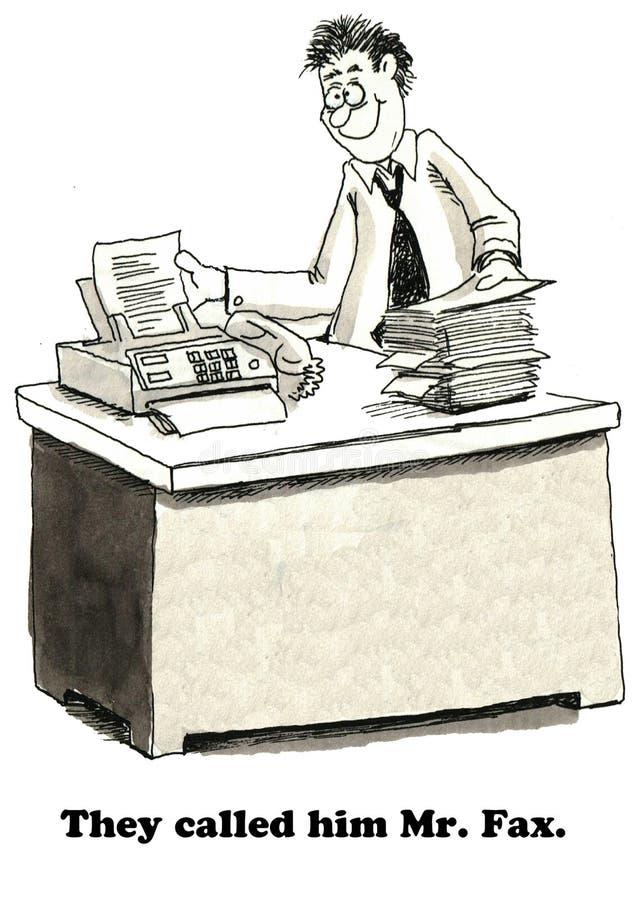 Ο κ. fax διανυσματική απεικόνιση