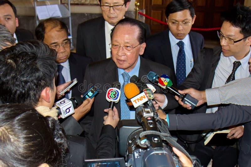 Ο κ. Hor Namhong, αναπληρωτής πρωθυπουργός του βασίλειου της Καμπότζης στοκ φωτογραφία
